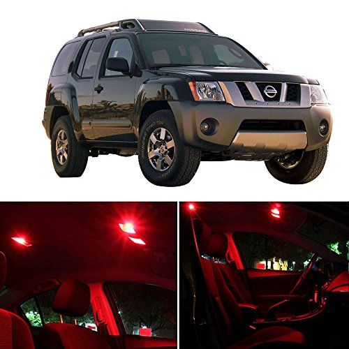 CCIYU 8pcs Red 5050 SMD LED Lights Interior Package Kit For Nissan Xterra 2005-2014 - Us Shiping