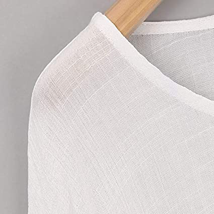 Protection Womens Ladies Casual Plus Size Shopping Blouse Cotton Linen Tops Shirt Batwing Sleeve Tunics Clothing