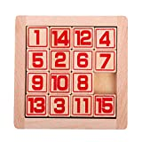SHENSHOU Classical Wooden Puzzle Magic Board Children's Beech Intelligence Toy,Red
