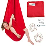 Sensory Swing by DreamGYM   Therapy Swing Great for Indoor or Outdoor Use   92% COTTON   Hardware Included