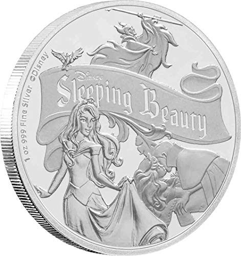 2019 NU Disney Sleeping Beauty 1 oz. Silver Commemorative Coin - with all original Mint packaging $2 Brilliant Uncirculated