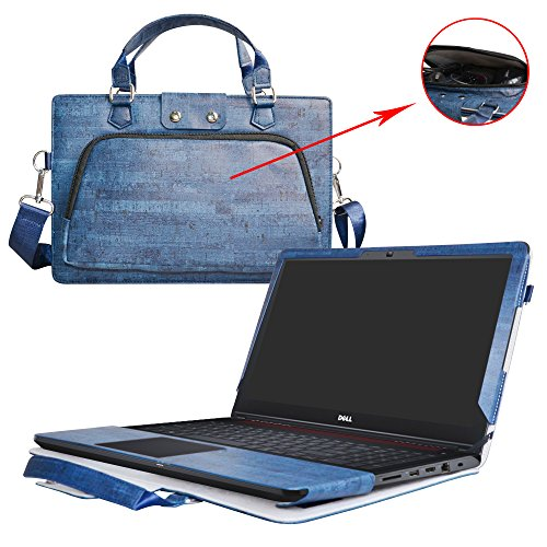dition 5577 5576 Case,2 in 1 Accurately Designed Protective PU Leather Cover + Portable Carrying Bag for 15.6
