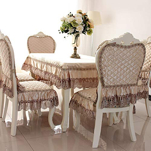 MAOFU Table Cloth Table Fabric Cover Home European Coffee Table Tablecloth Fabric Rectangular lace Table Cloth Chair Cover Cushion Set Chair Cover Simple Modern (Color : Yellow, Size : D)