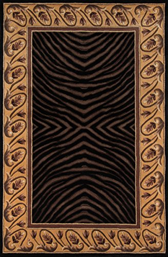 Momeni Rugs NEWWANW-09BLK2030 New Wave Collection, 100% Wool Hand Carved & Tufted Contemporary Area Rug, 2' x 3', - Black New Wave Momeni