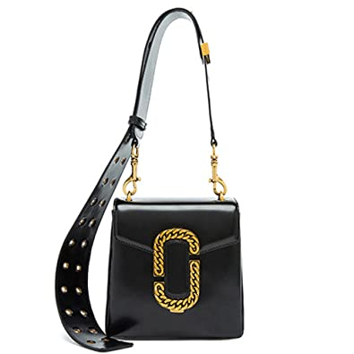 75b95fafca Amazon.com  MACTON Women Shoulder Bag Wide Shoulder Strap Retro Leather  Messenger Bag MC-5026 (20CM Black)  Shoes