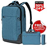Lifewit Laptop Backpack Slim Business Bags Anti-Theft Water Resistant College School Travel Bookbag Fits Under 17.3-Inch Laptop Notebook With Free Laptop Bag& Pencil Pouch