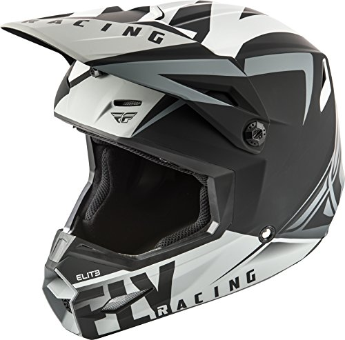 FLY RACING ELITE VIGILANT HELMET MATTE BLACK/GREY LG