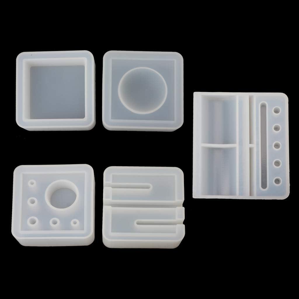 GUSENG Silicone Mold Card Storage Pen Pencil Holder Ashtray Epoxy Resin Mold Jewelry Making