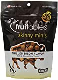 Fruitables Skinny Minis Chewy Dog Treats in Grilled Bison Flavor, 5-Ounce