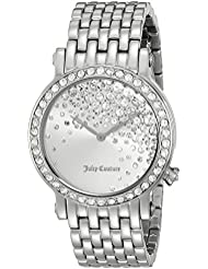 Juicy Couture Womens 1901279 La Luxe Analog Display Quartz Silver Watch
