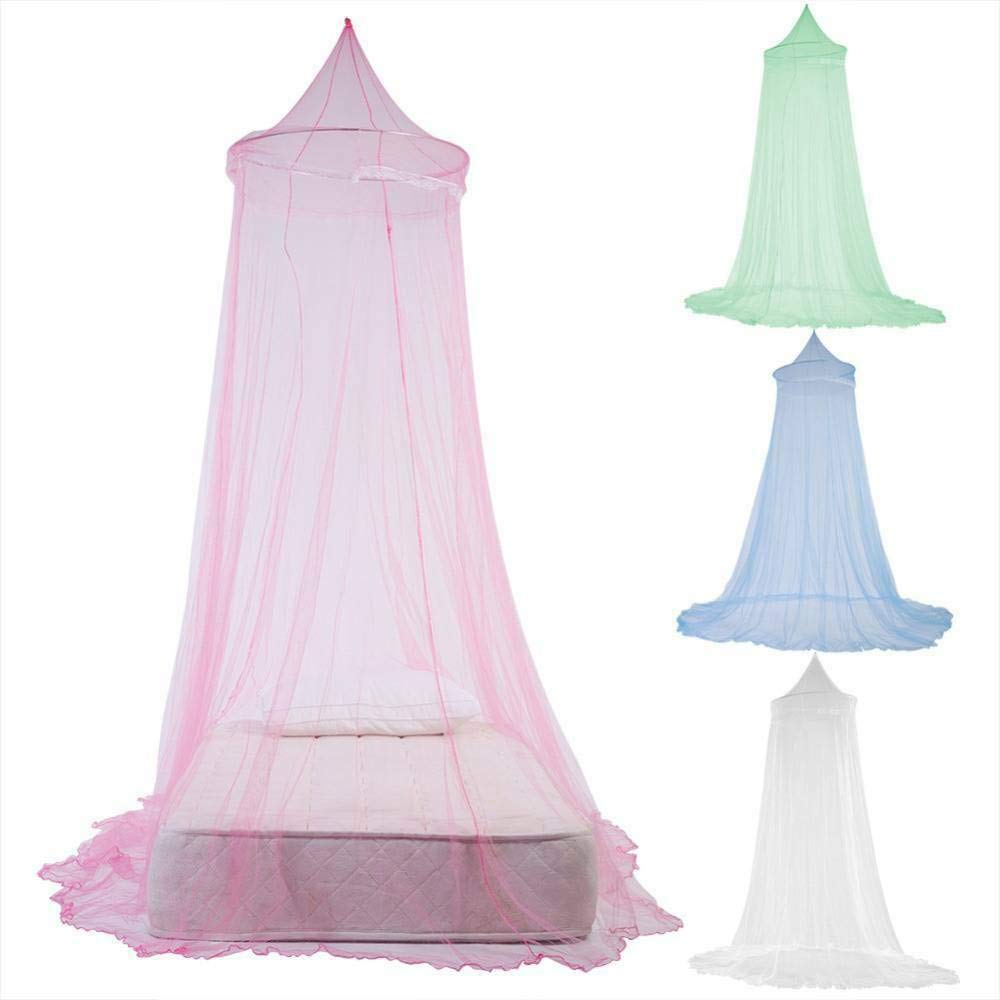 Sanwish Dome Lace Mosquito Net Bed Canopy Netting Double King Size Fly Insect Protection, Baby Princess Canopy Crib Netting Dome Bed Mosquito Net for Nursery (Pink)