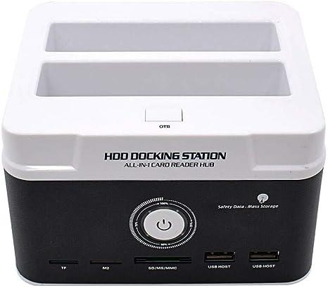 ZJH Dual IDE SATA HDD Caja de Tarjetas de Disco Duro Externo ...