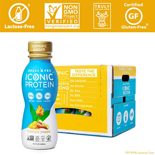 Iconic Grass Fed Protein Drinks, Turmeric Ginger