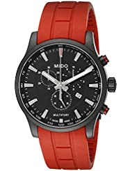 Mido Womens MIDO-M0054173705140 Multifort Analog Display Quartz Red Watch