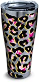 Tervis 1284373 Funky Animal Print Stainless Steel Tumbler with Clear and Black Hammer Lid 30oz, Silver