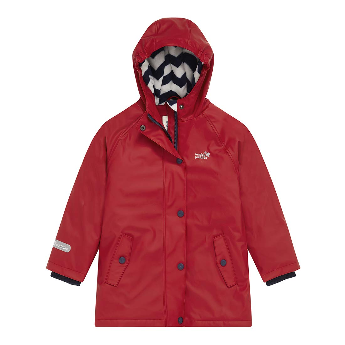 Muddy Puddles Children's Puddleflex Wateproof Jacket Rain Proof Insulated Polar Fleece Lining Durable Fully Taped Seams Windproof Double Ended Zip Storm Flap Flexible Soft PU Kids Unisex Boys Girls