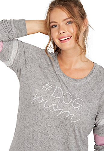maurices Women's Plus Size #Dogmom Embroidered Football Sweatshirt 2 Gray ()