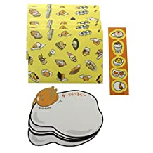 Sanrio Character Message Set With Sticker Seal Hello Kitty-My Melody-Cinnamoroll-Pompompurin-Little Twin Star ((1 Single character package per Order)) (Gudetama)