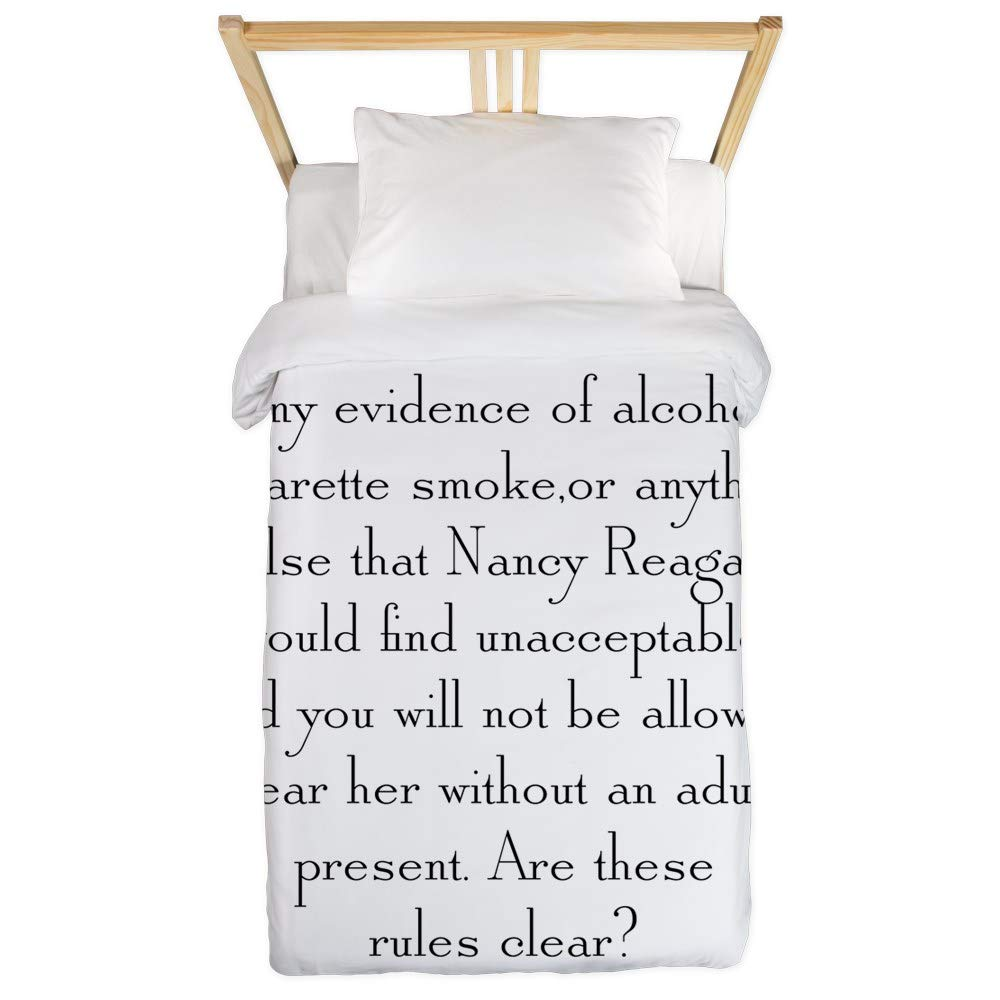 CafePress Any Evidence Twin Duvet Twin Duvet Cover, Printed Comforter Cover, Unique Bedding, Microfiber