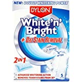 Dylon White 'N' Bright + Oxi Stain Removal  2-in-1 (5 Sachets)