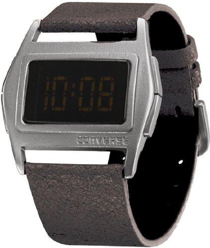 Converse VR005-005 - Reloj Digital de Cuarzo Unisex con Correa de Piel, Color Negro: Amazon.es: Relojes