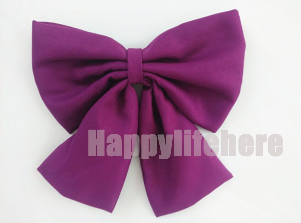 Amazon.com : Happylifehere Japanese Anime Cosplay Long Purple Wig with Braid + Bow : Beauty