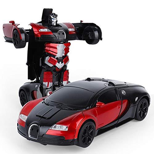 Luccky Gesture Sensor Deformation Car Robot Dual Modes Vehicle Robot Deformating Car Bugatti Manual Transformer Car Toys Inertial Transformation Robots Toys 1:12BUGATTI Model Vehicle for Kids Gifts