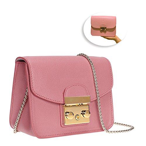 57cd964992f3 Leather Chain Shoulder Bag Fashion Mini Evening Bag Wedding Party Handbag  Classic Clutch for Women Girls