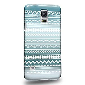 Case88 Premium Designs Hand Drawn Aztec TREND MIX 0778 Carcasa/Funda dura para el Samsung Galaxy S5