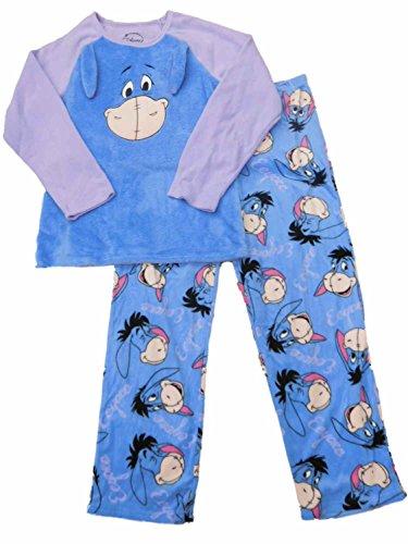 Disney Pooh Pjs (Disney Eeyore Winnie the Pooh 3D Fleece Pajama Sleep Set - X-Large)