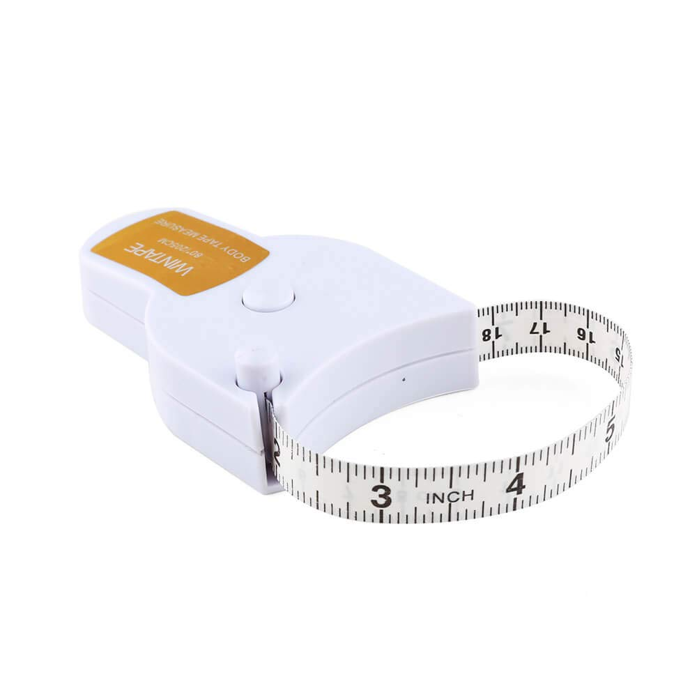 "WIN TAPE 80"" 205cm Waist Body Tape Measure with Push Button, Measuring Waist and Arms (Black)"