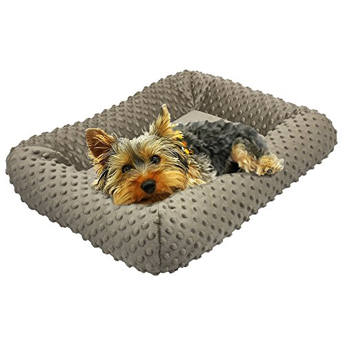 BV Pet 24-inch Padded Plush Dog Bed, Kennel and Crate Mattress