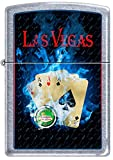 Las Vegas 4 Lucky Aces Poker Hand Chrome Zippo Lighter