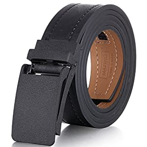 Marino Avenue Genuine Leather belt for Men, 1.3/8″ Wide, Casual Ratchet Belt with Automatic Linxx Buckle