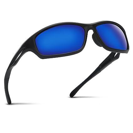 Occffy Hombre Gafas de Sol Deportivas polarizadas para béisbol, Atletismo, Ciclismo, Pesca, Golf Tr90