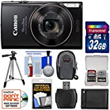 Canon PowerShot Elph 360 HS Wi-Fi Digital Camera (Black) with 32GB Card + Case + Battery + Tripod + Kit