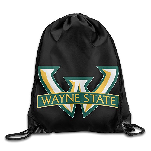 Drawstring Backpack Bag Wayne State Warriors Logo