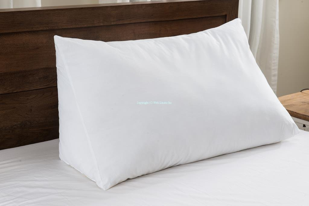 Set of 2 - Wedge Pillow - 100% Cotton Shell - for Bed, Couch, Floor - Exclusively by Blowout Bedding RN# 142035