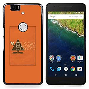 FOR Huawei Nexus 6P Queen Pattern - Don'T Polygon Triangle Text Funny Orange - Doble capa de armadura de la cubierta del caso del protector -