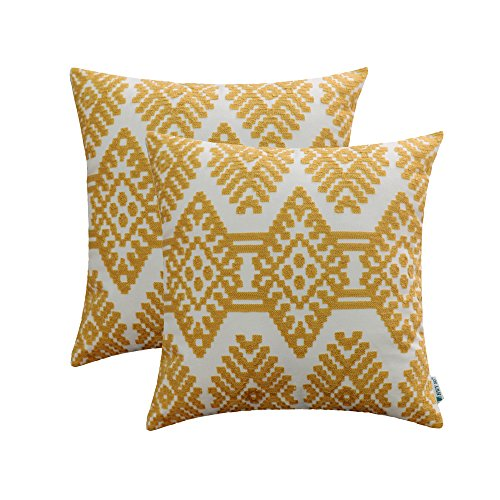 Yellow Abstract Throw Pillows Covers18 x 18