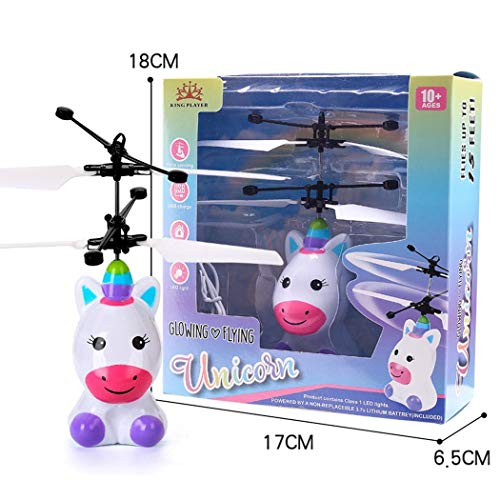 Ladiy Children Mini Infrared Sensing Lighting Flying Toy USB Charging Toy Electronic Toys