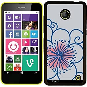 Funda para Nokia Lumia 630 - Flor Azul Clara by hera56