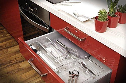 Interdesign Linus Kitchen Drawer Organizer For Utensils Tools Gadgets Ebay