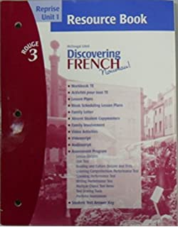 Amazon discovering french nouveau rouge 3 workbook dicovering french novveau reprise unit 1 resource book rouge 3 fandeluxe Images