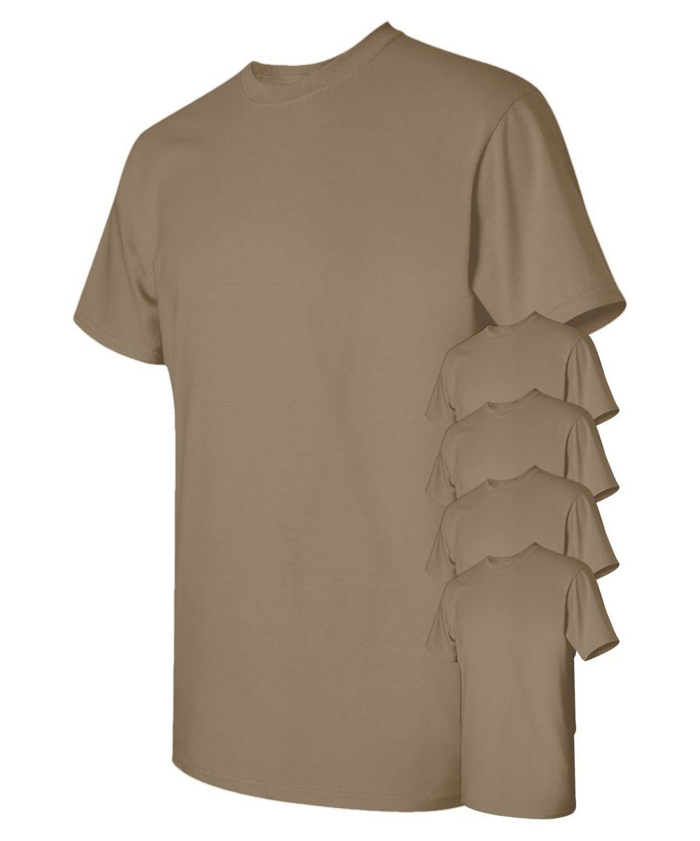 Gildan Men's Classic Heavy Cotton T-Shirt_Brown Savana_S (Pack of 5)