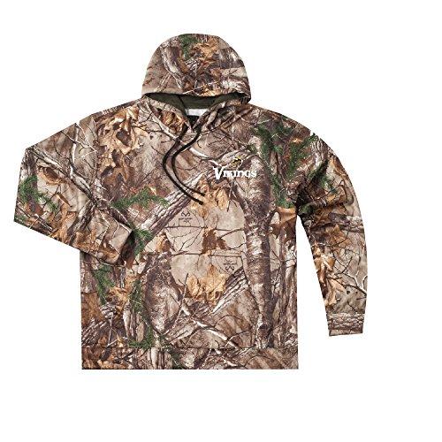 NFL Minnesota Vikings Camo Trophy Xtra Tech Fleece Full Zip hoodie, Large