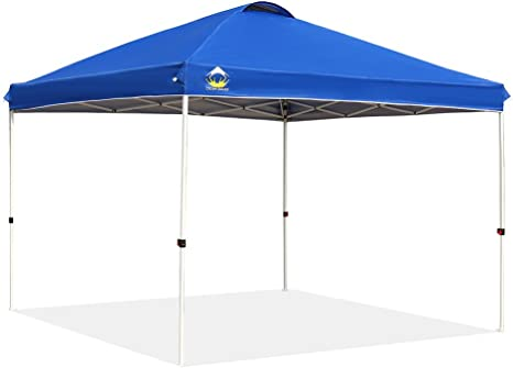 CROWN SHADES Patented 10ft x 10ft Outdoor Pop up Canopy - Central Hub Setup