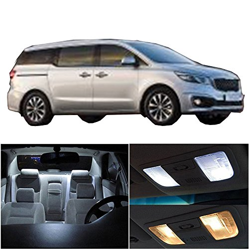 cciyu 14 Pack White LED Package Kit LED Interior Lights Accessories Replacement Parts Replacement fit for 2002-2007 Kia Sedona
