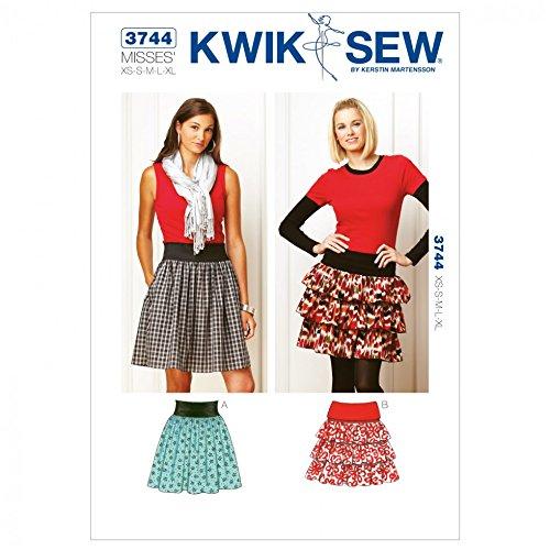 (Kwik Sew Ladies Easy Sewing Pattern 3744 Gathered & Ruffle Skirts)