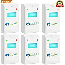 GUMU [NEW 2018] Ultrasonic Pest Repeller (6-Pack) - Indoor Plug-In Repellent, Ultrasound & Electronic   Insects Anti Mice Rats Rodents Bugs Ants Mosquitos Spiders Roaches - Child & Pet Safe Control